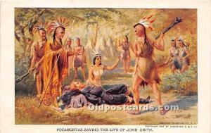 Pocahontas saving the life of John Smith Unused