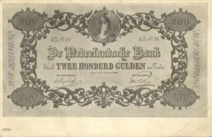 netherlands, Money Postcard, Two Hundred Dutch Guilders, BANKNOTES (1899)