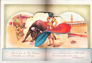 Spanish Pop-Up Card - Bull Fighting