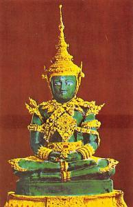 Thailand Bangkok The Image of the Emerald Buddha under Summer Season