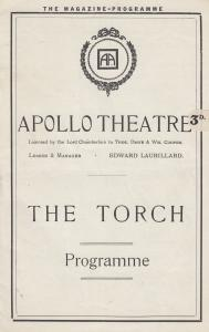 The Torch Upper Class Drama Olga Frank Lindo Apollo London Theatre Programme