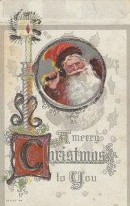 CHRISTMAS, 1900-10s ; Santa Claus on telephone