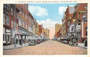 Wilmington Delaware~Market Street~Mary Lee Candies~Silver 5&10~Credit~1920s PC
