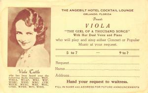 Orland FL Viola Ruth Conant Pansa~Girl of 1000 Songs~Utica NY~Waban MA 1950s