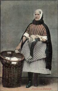Newhaven UK Fishwife Native Woman Costume c1910 Postcard