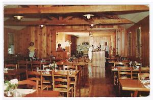 Ranch Motel Restaurant Interior Blowing Rock North Carolina postcard