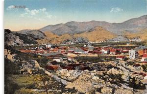 Montenegro, Cetinje, aerial general view, Panorama