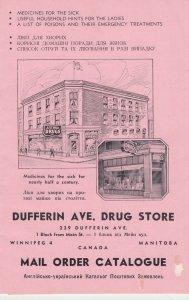 WINNIPEG , Manitoba , Canada , 1910-30s ; Dufferin Ave (Ukranian) Drug Store ...