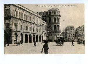 173621 ITALY GENOVA Via Venti Settembre Vintage postcard