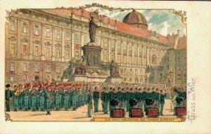 Austria Gruss aus Wien Litho Postcard 03.43