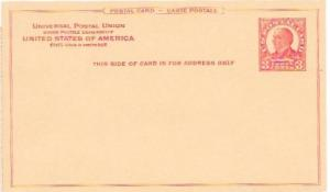 US Unused. McKinley 3 cent post card. 1926. Universal Postal Union.