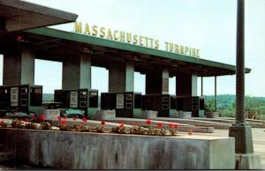 Massachusetts Toll Plaza On The Massachusetts Turnpike
