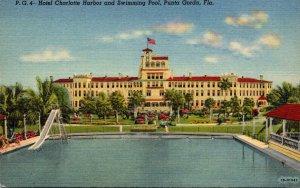 Florida Punta Gorda Hotel Charlotte Harbor and Swimming Pool Curteich