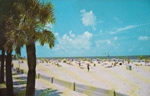 Florida Clearwater Beach Colorful Beach Umbrellas Stretch Along The Beach