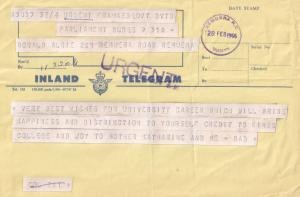 Remuera Kings College University 1966 New Zealand Telegram