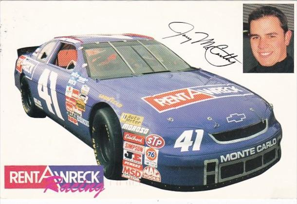 Advertising Rent-A-Wreck Busch Grand National Car #41 Driven By Joey McCarthy...