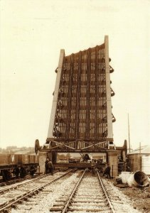 Postcard, Installation of Bascule Bridge at Carmarthen by Rail Photo Print 51V