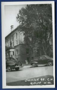 Jackson County Court House Ripley West Virginia wv real photo postcard RPPC