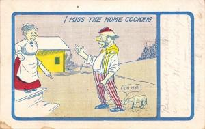 I Miss the Home Cooking~Bum Shows Up~Rolling Pin Wife~Dog Appalled~1907 PC