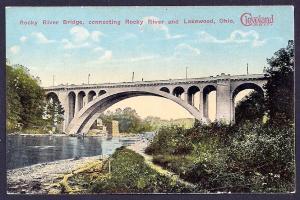 Rocky River Bridge Lakewood/Rocky River Ohio unused c1910