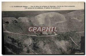 Postcard Old Mine Mines La Boisselle Somme Road Hole Mine Bapaume Entrance of...