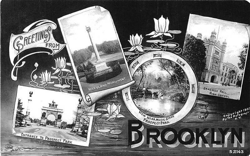 Brooklyn NY Greetings Multi-View Rotograph Publisher RPPC Postcard