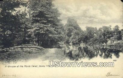 Morris Canal Jersey City NJ 1906