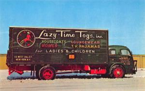New York NY Lazy-Time Togs Neon Delivery Truck Postcard