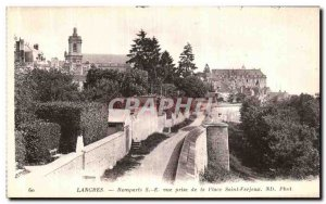 Old Postcard Langres Ramparts View Taking Place Saint Ferjeux