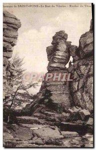 Old Postcard Environs de Saint Pons Le Saut du Rocher Vésoles Titan