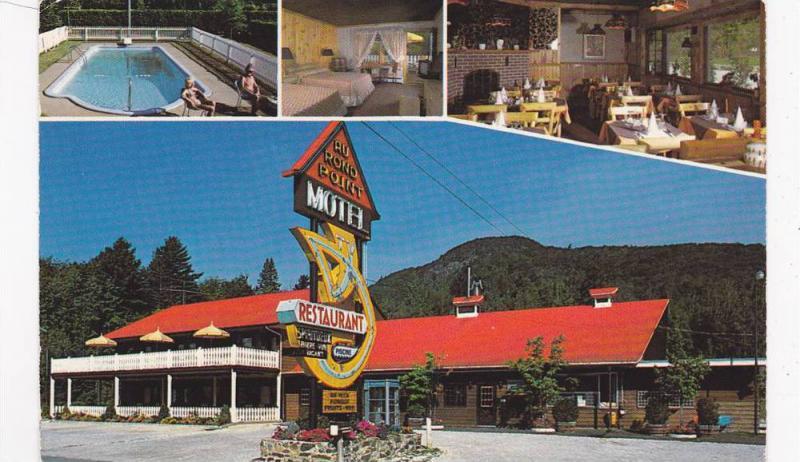 Multi-Views, Au Rond Point Motel-Restaurant, Swimming Pool, Magog, Quebec, Ca...