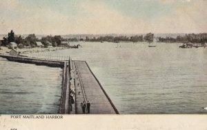 PORT MAITLAND, Ontario, Canada, PU-1911; Port Maitland Harbor