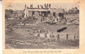 Gates House and Barn after Tornado July 3, 1907