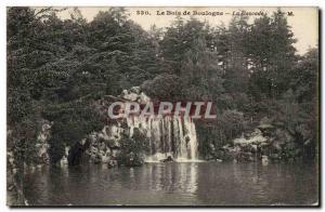 Old Postcard Paris Bois de Boulogne The waterfall