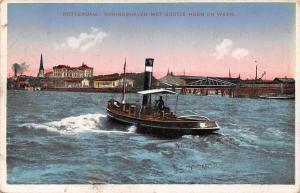Netherlands Rotterdam, Konigshaven met Bootje Heen en Weer, Boat, Boote 1919