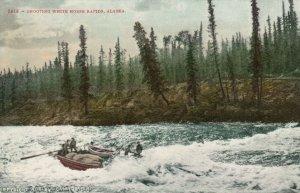 Shooting White Horse Rapids , Alaska , 1900-10s : Raft
