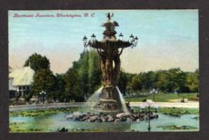 DC View of Bartholdi Fountain WASHINGTON Postcard PC