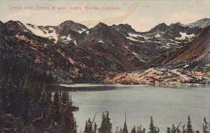 Crystal Lake Source Of Water Supply Boulder Colorado