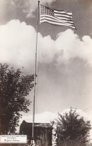 Indiana Milford Camp Mack American Flag Chimes Tower Real Photo