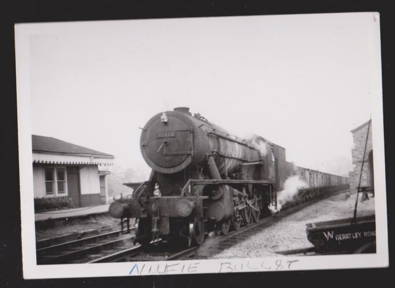 Old Locomotive At Station - Probably UK - Reproduction Print Not Postcard