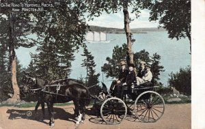 On the Road to Hopewell Rocks, Moncton, N.B., Canada, 1907 postcard, used