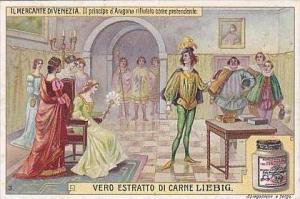 Liebig Vintage Trade Card S939 Merchant Of Venice 1908 No 3
