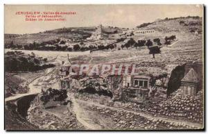 Postcard From Old Jerusalem valley of Jehoshaphat