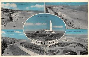 Whitley Bay, St. Mary's Island, The Sands, Promenade, Paddling Pool War Memorial