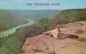 Tennessee Chattanooga The Tennessee River From Signal Point On Signal Mountai...