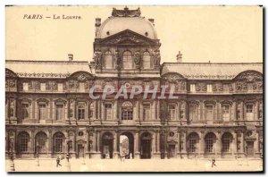 Old Postcard The Louvre Paris