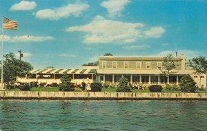 Oakdale L.I. New York Snapper Inn on Connetquot River vintage pc ZE686271