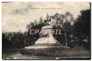Old Postcard Tananarive The Statue of Marechal Gallieni