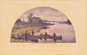 The Chicago River Near Wolf Point 1833 Painting At Central Trust Company Of I...
