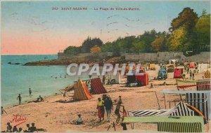 Old Postcard Saint Nazaire City Beach are Martin